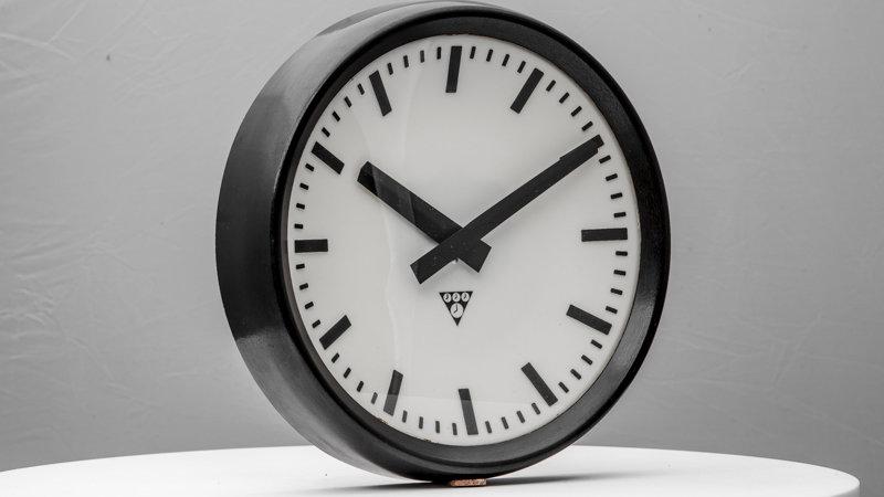 Vintage Industrial Bakelite Analog Clock (12 inch) 1960s