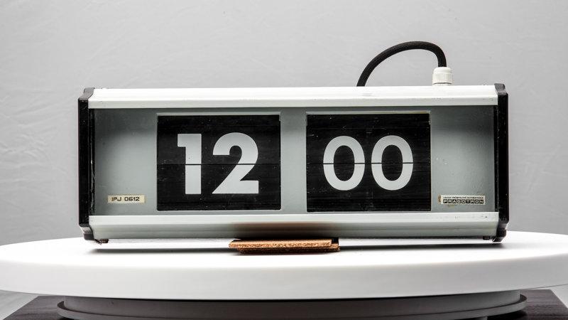 Industrial Flip Clock 1980s