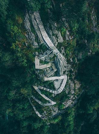 Aerial Photo of a Mountain Path