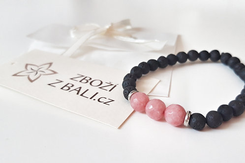 Lávové kameny + růženín
