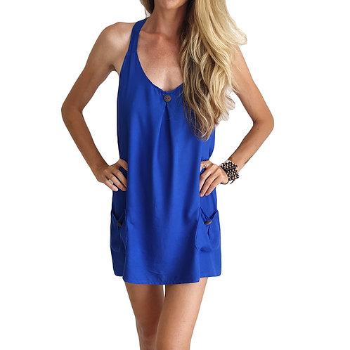 Šaty street - modré