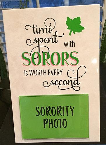 """Photo Plaque """"Soror"""""""