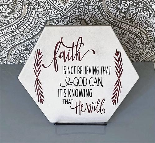 """Plaque """"Faith"""" (Small)"""