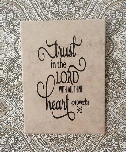 Scriptural Plaque - Trust In the Lord