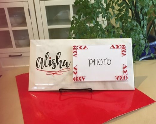 Personalized Sorority Photo Plaques