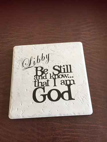 Scripture Trivets with Personalized Name