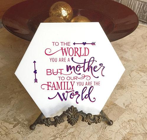 Decorative Tile -  Mother Plaque