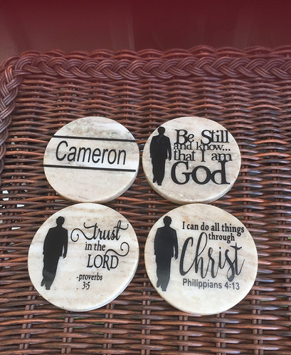Christian Male Coaster Set