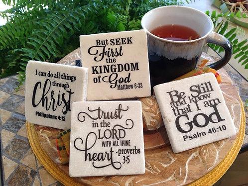Scripture Coaster Set
