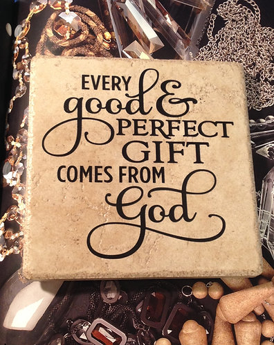 """3 in 1 Trivet """"Every Good And Perfect Gift"""""""