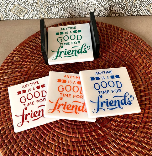 "Coaster Set ""Good Friends"""