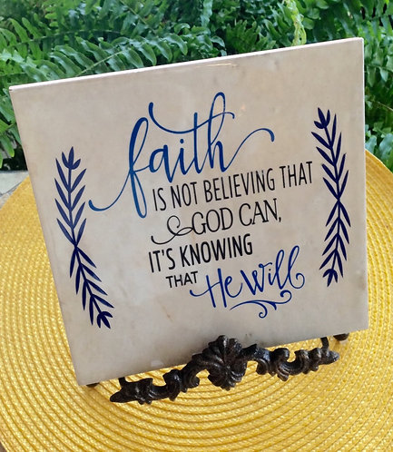 Scripture Plaque-Faith