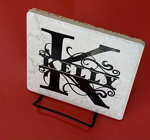 Personalized Trivet with Monogrammed Design
