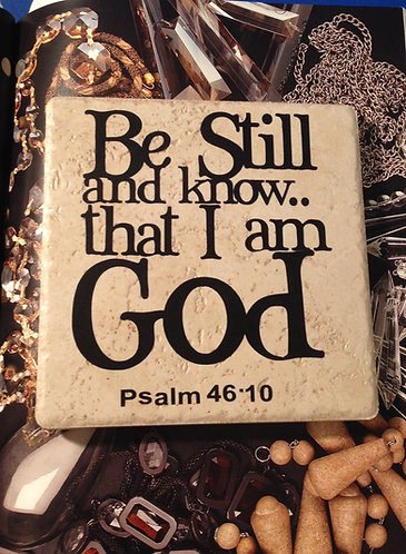 """3 in 1 Trivet """"Be Still and Know..."""""""