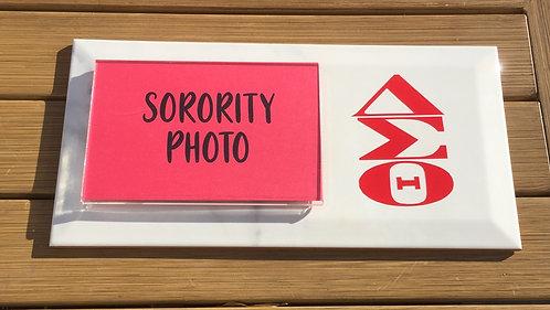 Sorority Photo Plaque - Greek Letters