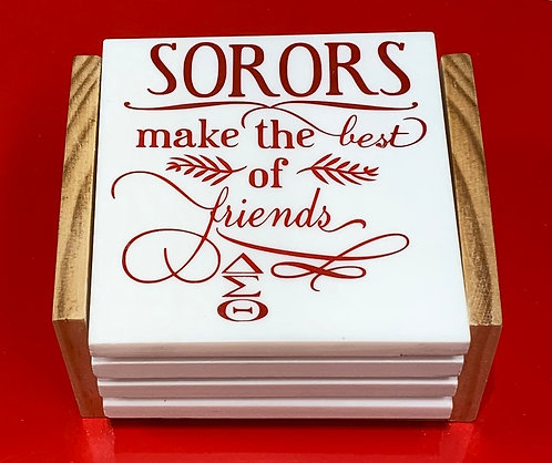 "Coaster Sets ""SORORS"" - Pick Your Colors"