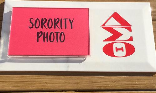 """Sorority Photo Plaque 12""""x6"""" with Symbols"""
