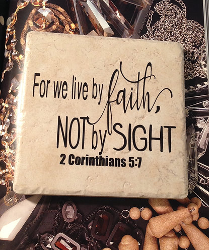 """3  in1 Trivet """"For We Live By Faith"""""""