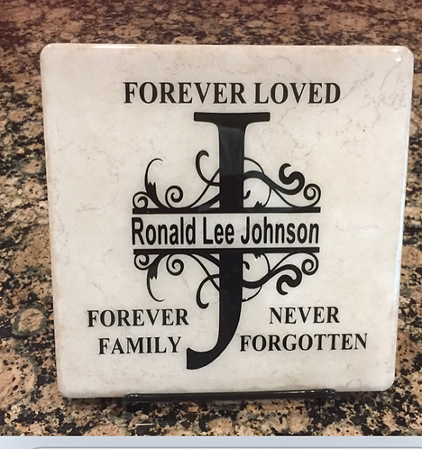 In Remembrance Plaque with Easel