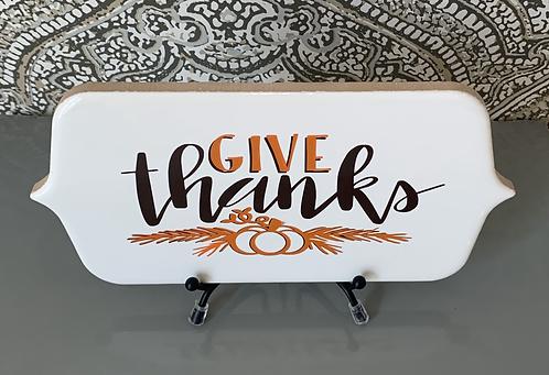 "Desk Plaque ""Give Thanks"""