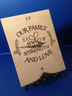 Clock Plaque-Our Family