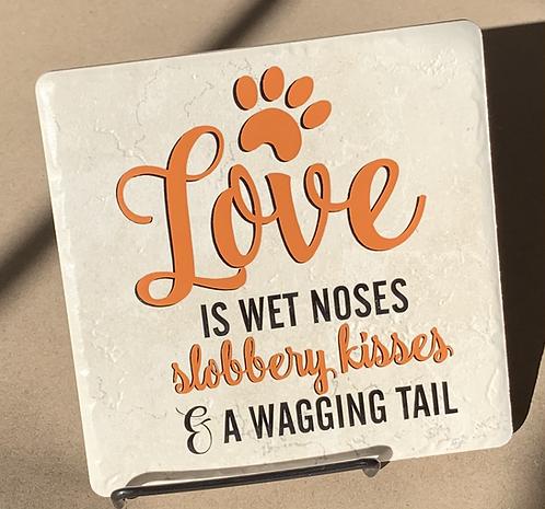 Decorative Tile Trivet with Easel - Pet Lover
