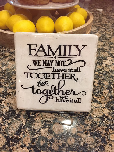 Decorative Tile with Easel - Inspirational Trivets
