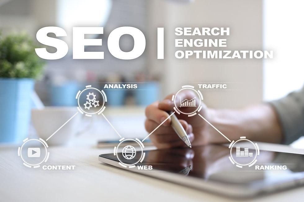 SEO. Search Engine optimization. Digital