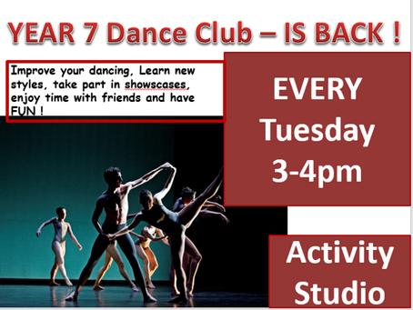Year 7 Dance Club!