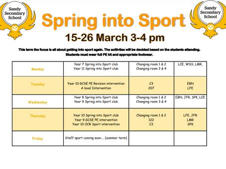 Spring Into Sport 2021