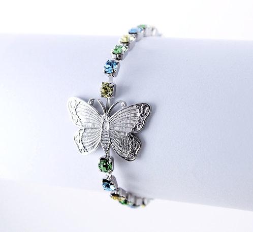 Butterfly Rhinestone Bracelet