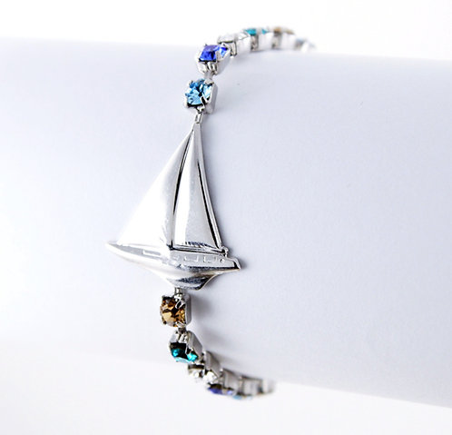 Sailboat Rhinestone Bracelet