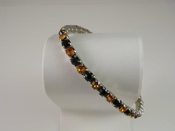 Black and Orange Stretch Bracelet