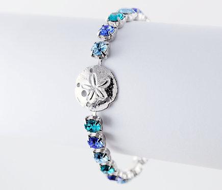 Sand Dollar Rhinestone Bracelet