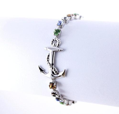 Anchor Rhinestone Bracelet