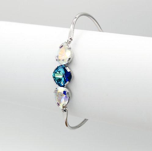 Bermuda Blue & Crystal Aurora Borealis