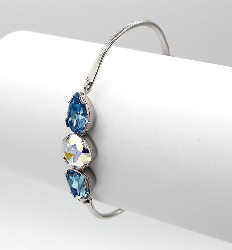 Crystal Aurora Borealis & Aquamarine