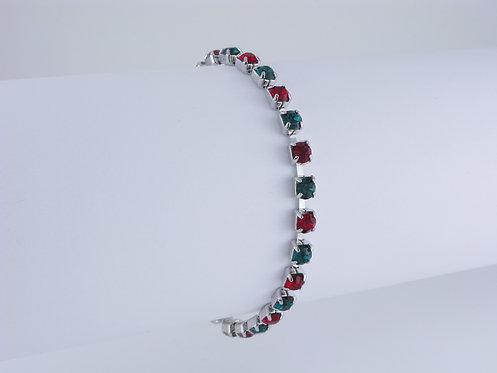 Emerald & Siam Rhinestone Bracelet