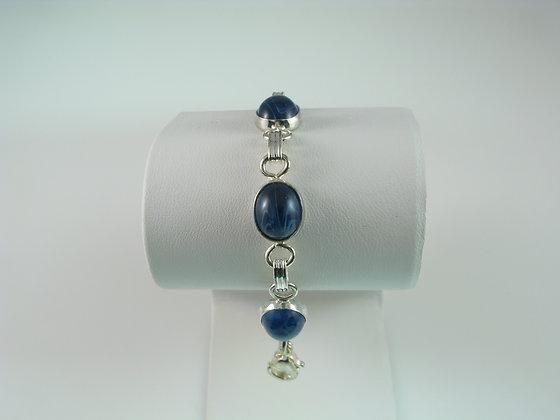 Blue Cabochon Bracelet