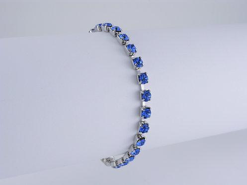 Sapphire Rhinestone Bracelet