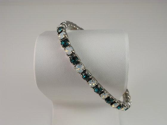 Emerald and Opal Stretch Bracelet