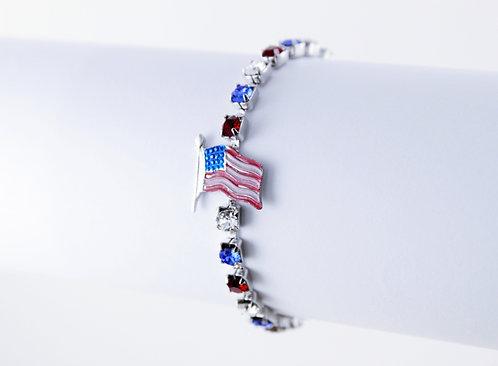 Flag Rhinestone Bracelet