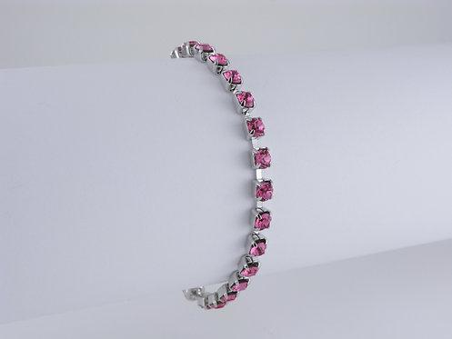 Rose Rhinestone Bracelet