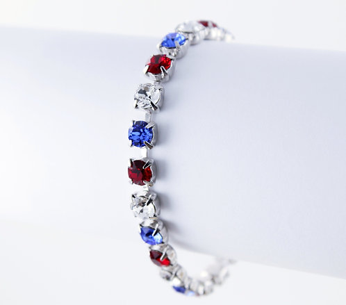 Patriotic Rhinestone Bracelet