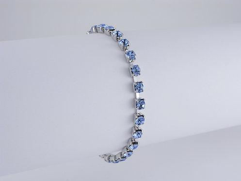 Light Sapphire Rhinestone Bracelet