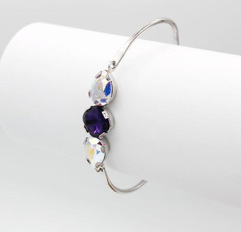 Purple Velvet & Crystal Aurora Borealis