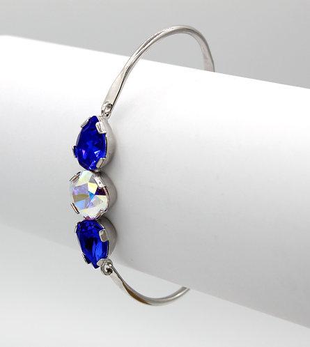 Crystal Aurora Borealis & Majestic Blue