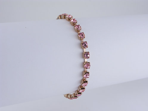 Light Rose Rhinestone Bracelet