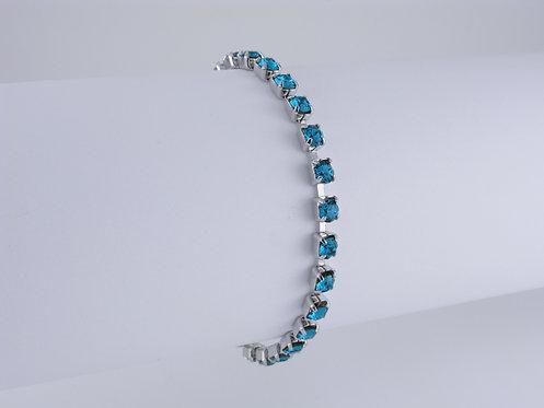 Blue Zircon Rhinestone Bracelet