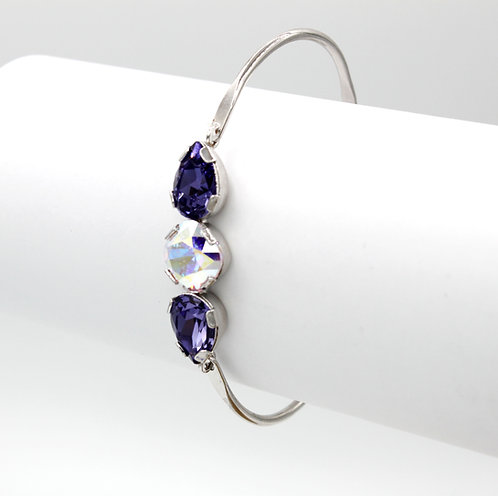 Clear Crystal & Tanzanite